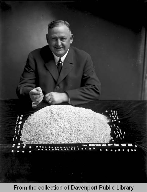 Man with Mississippi River Pearls