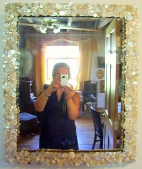 Mother of Pearl Mirror and Kari