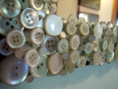 Mother of Pearl Mirror Closeup