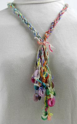 Multi-Colored Muscatine Button Necklace