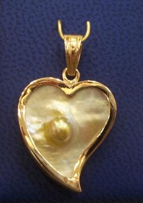 Natural Blister Pearl Pendant