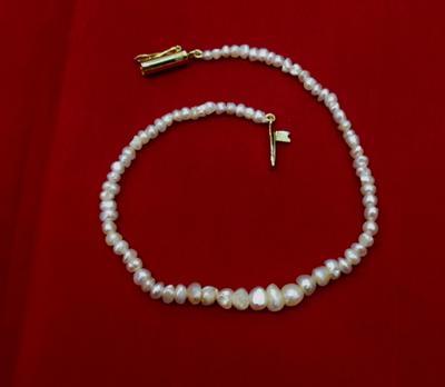 Natural Basra Pearl Bracelet - 17.58 carats Persian Gulf Pearls