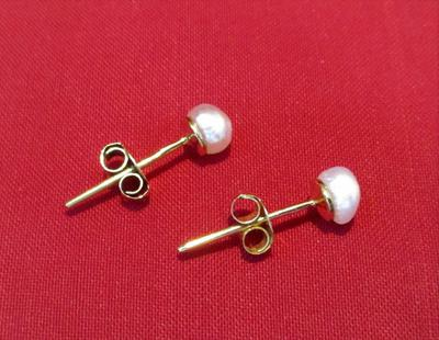 Natural Basra Pearl Earring on 18k Gold