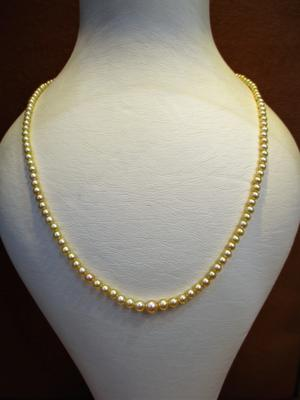 Natural Basra Pearl Necklace 18 inches 36 carats 2-4mm