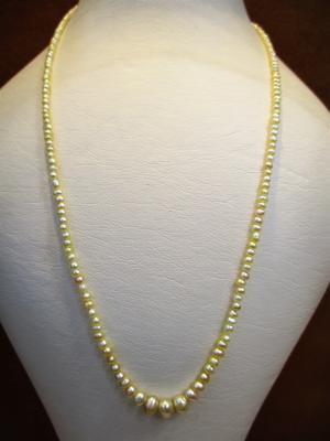 Natural Basra Pearl Necklace Strand 28 carats Total