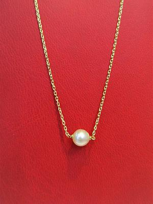 Natural Basra Pearl on 18k Gold