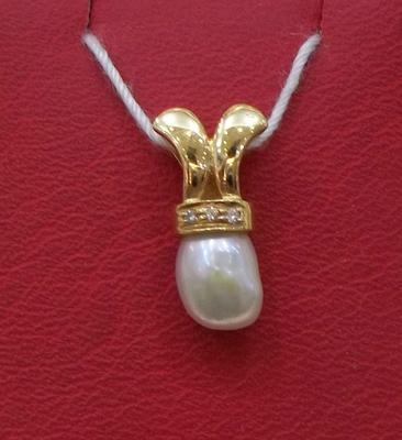 Natural Basra Pearl Pendant