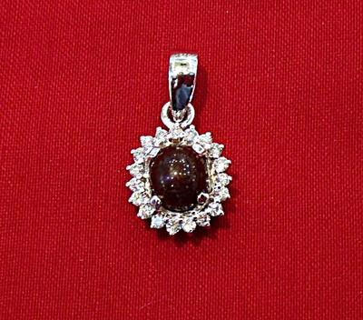 Natural Basra Pearl Pendant Surrounded with Diamonds