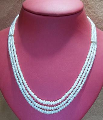 Natural Pearls Three Row Necklace