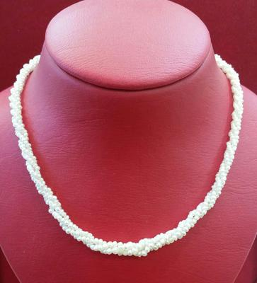 Natural Basra Persian Gulf Pearl Twisted Necklace
