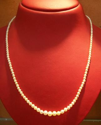 Natural Basra Saltwater Pearl Necklace Strand