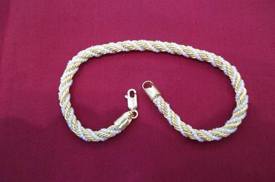 Natural Basra Seed Pearls Bracelet - 21 ct Gold