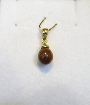 Natural Brown Persian Gulf Pearl Pendant 2+ carat