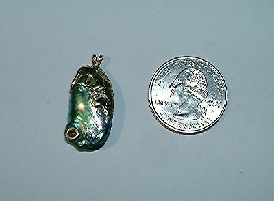 Natural California Abalone Pearl Pendant