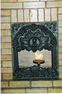 Baku natural gas fireplace