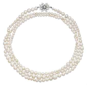 Natural Pearl & Diamond Sautoir <BR><I>Photo: Christie's</I>