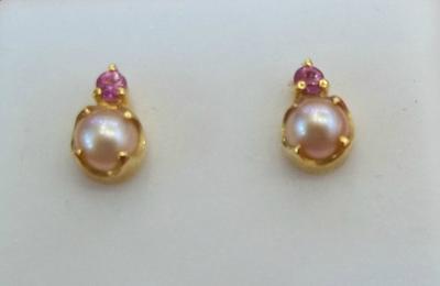Natural Pearl Earrings - 18K Gold