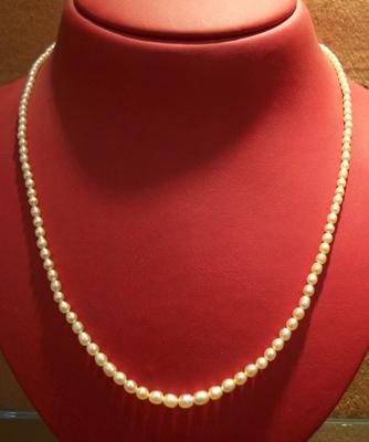 Natural Pearl Necklace Basra Pearls from Persian Gulf - 32.27 carats