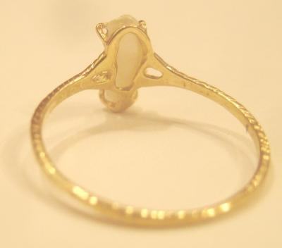 Natural Pearl Ring back view