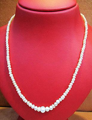 Natural Pearls Necklace 18 inches long 52 carats