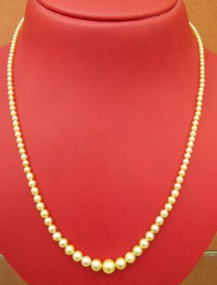 Natural Pearls Necklace Strand