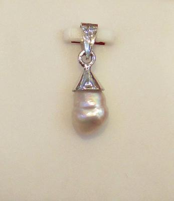 Natural Persian Gulf Basra Pearl Pendant