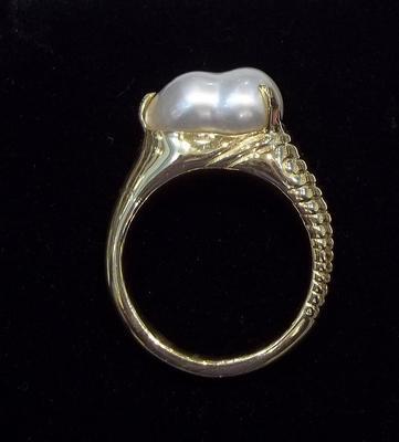 Natural Persian Gulf Pearl Ring