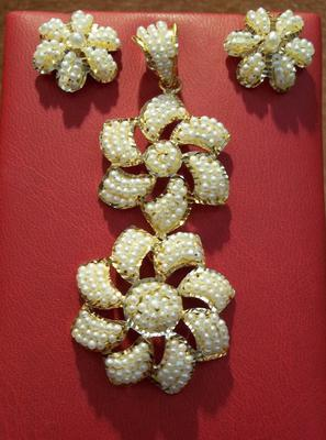 Natural Seed Pearl Jewelry Set