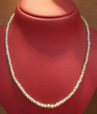 Necklace of Rare Basra Natural Pearls