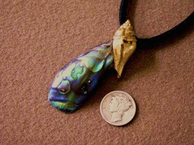 52kt Abalone Pearl Pendant