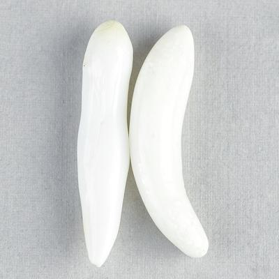 Pair 29+mm Long Baroque Clam Pearls