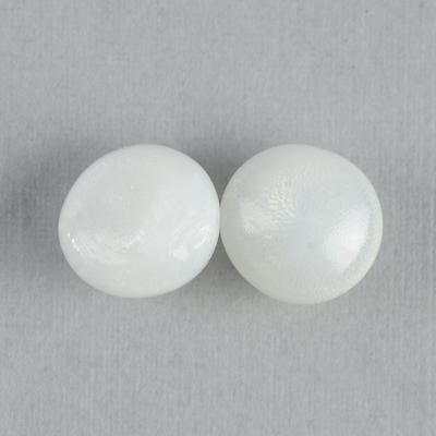 Pair Clam Pearls 8-9mm Button Shape