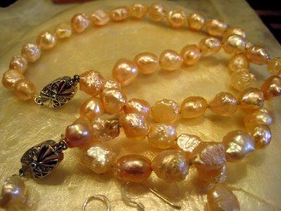 Pale pink pearls