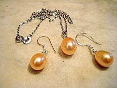 Pink Pearl Drop Set