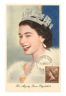 Queen Elizabeth in Pearl Earrings