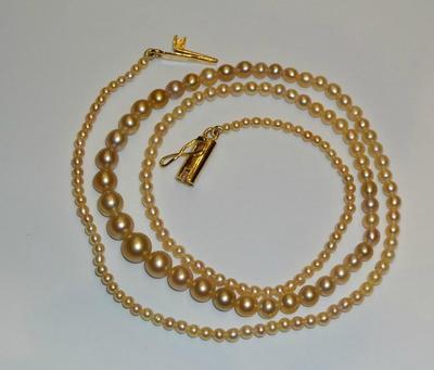 Salt Water Natural Pearls & 32.91 Carat