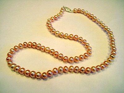 Single Strand Pink Pearls