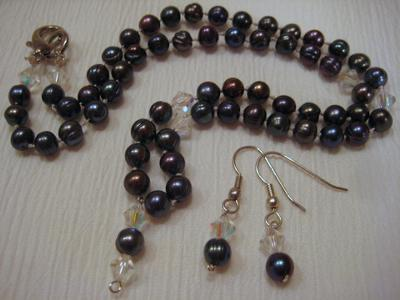 Smokey Hot Pearl Necklace