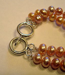 Sterling Silver Clasp Two Strand
