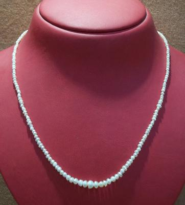 Strand of Lovely and Rare Basra Pearls