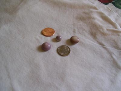 Thee Beautiful Purple Quahog Pearls