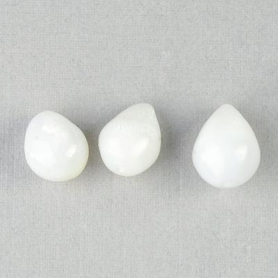 Three Clam Pearls Drop Shape 11+carats total Set