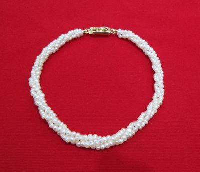 Twisted Natural Basra Pearl Bracelet