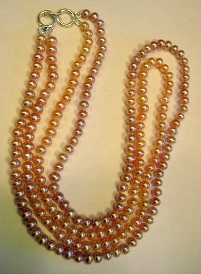 Two Pink Strands Pearls