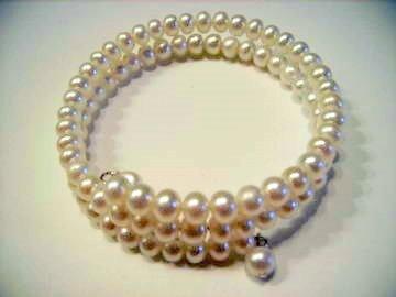 White Pearl Wrap Bracelet