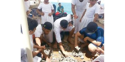 Young pearl divers return today after three days in sea